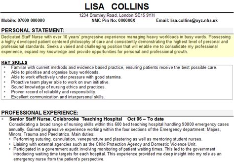 Templates Of Cv Personal Statements | personal statement exle for cv