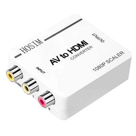 Converter Lightning To Hdmi Digital Tv Av Lcd Kabel Iphone Mini hosim av to hdmi converter adapter rca mini box for tv pc ps3 blue dvd wantitall