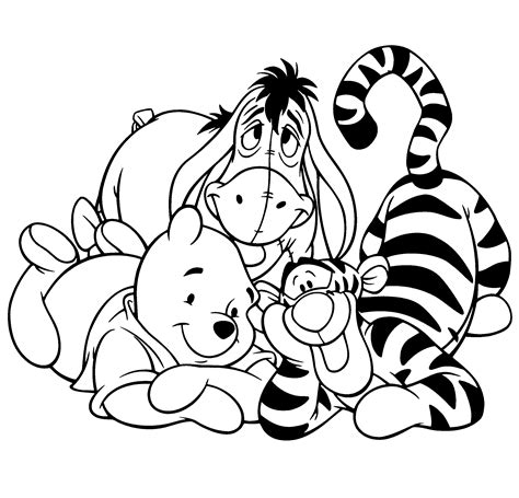 winnie the pooh and tigger coloring pages coloring home