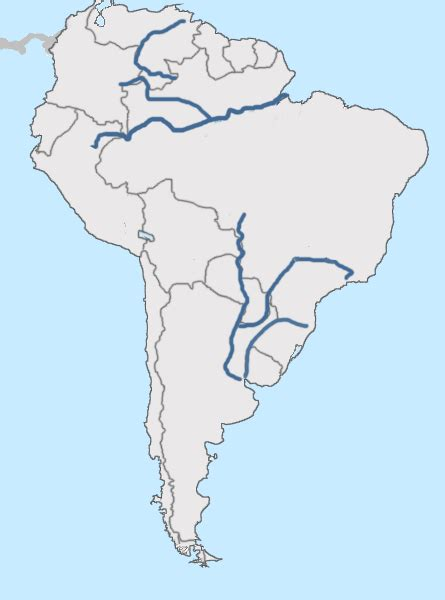 rivers of south america map test your geography knowledge south america rivers and