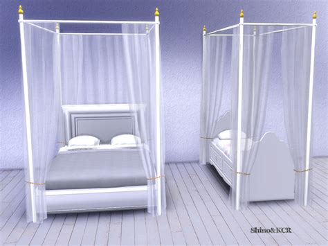 the sims 4 bed cc shinokcr s curtains and canopy s