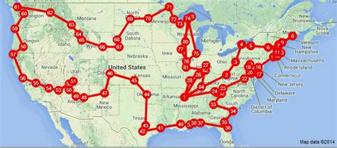 where are you going on a road trip across the usa