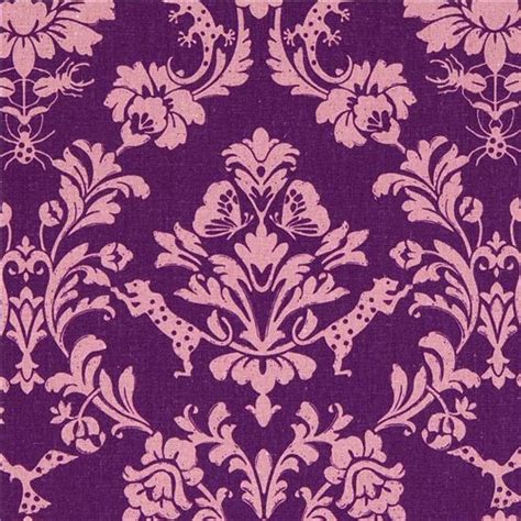 gothic upholstery fabric purple echino canvas fabric gothic leopard ornament