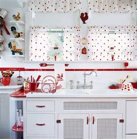 1950s Kitchen Curtains Retro Kitchen Panda S House
