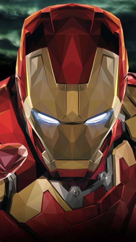 iron man polygon art iphone wallpaper iphone wallpapers