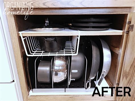organizing pots and pans in kitchen cabinets the best kitchen organization ideas cabinets fridges and