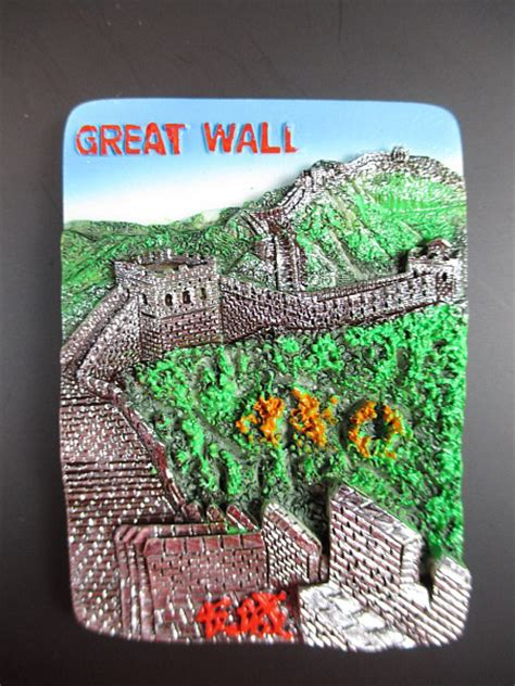 Souvenir Tempelan Magnet Great Wall China beijing great wall wall china fridge poly magnet souvenir