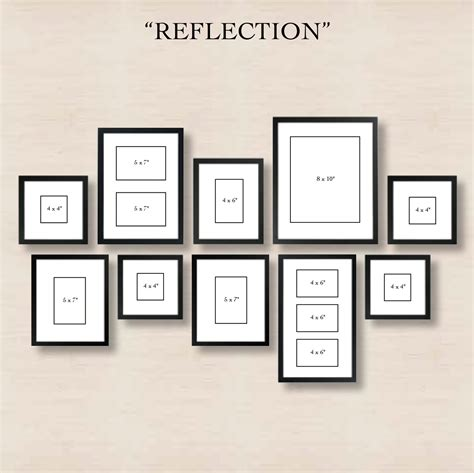 photo layout creator 6 ways to set up a gallery wall 4 reflection create
