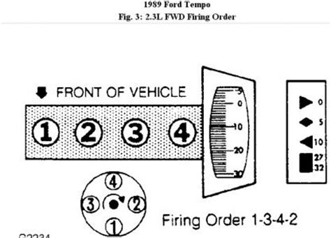 94 ford 2 3 firing order diagram 94 auto engine and