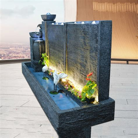 fountain water curtain wall home garden decoration