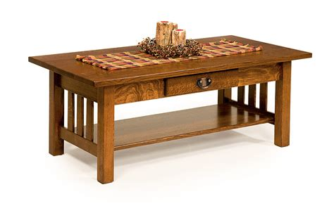elm crest 173 classic mission coffee table