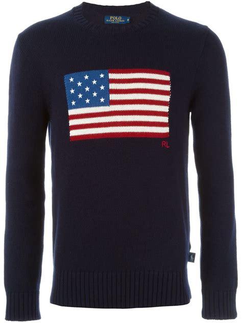 Top Usa Sweater 1 ralph polo navy cotton crewneck usa flag sweater