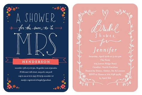 Bridal S Er Invitations From  Ee  Wedding Ee   Paper Di S