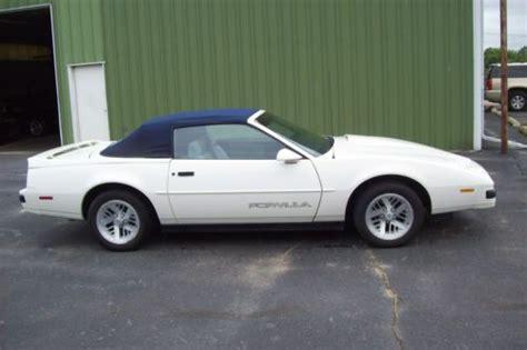 how does cars work 1989 pontiac firebird user handbook purchase used 1989 pontiac firebird formula convertible 2 door 5 0l in maquoketa iowa united