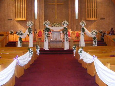 Country Church Wedding Decorations Altar