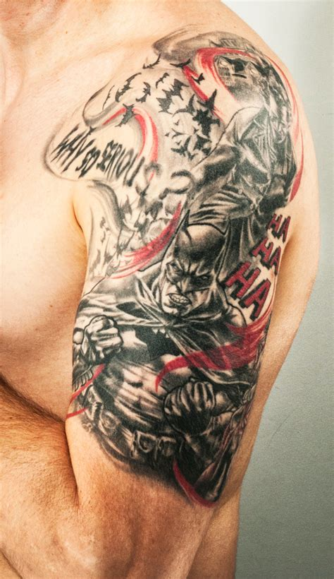 batman and joker tattoo 1000 images about tattoos on