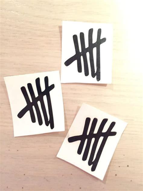 Sticker Vinyl 5 Second Of Summer 5sos 5 seconds of summer vinyl decal sticker tally marks