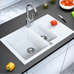 Kitchen Sinks On Ebay Bergstroem Granite Kitchen Built In Sink Reversible 800x495 White Ebay