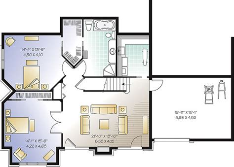 basement house plans the lodge 1147 5 bedrooms and 3 baths the house designers