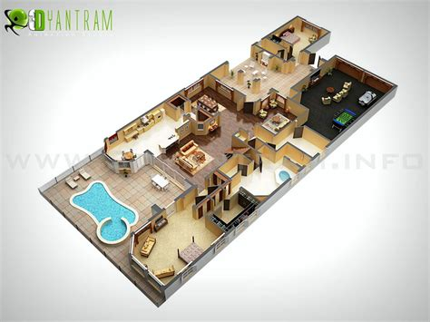 Two Bedroom Apartments In Queens 3d floor plan design interactive 3d floor plan yantram