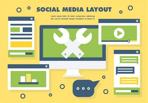 vector layout system social media layout vector download free vector art