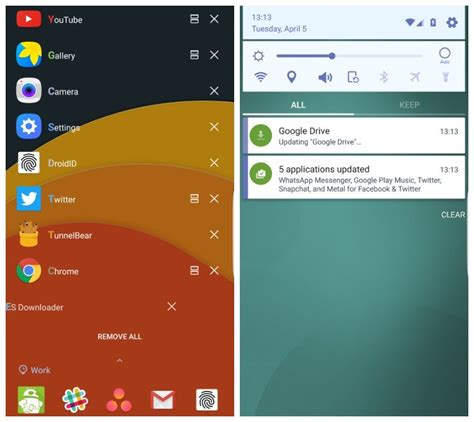 recent apps android samsung s lock ui now works with all galaxy s7 s6 and note 5 variants android authority