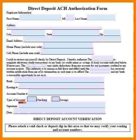 Permalink to Payroll Direct Deposit Authorization Form Template