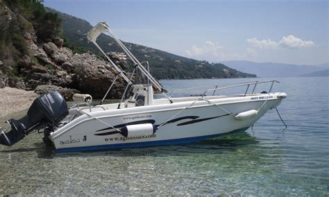 family boats agni boats rental corfu family boats 25 30 40 60 hp