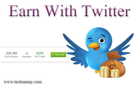 Make Money Online Twitter - how to earn money from twitter tweets