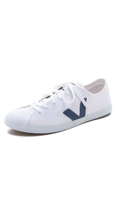 veja shoes veja taua canvas sneakers in white for lyst