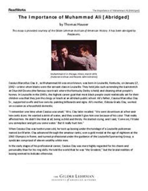 muhammad ali biography worksheet the importance of muhammad ali abridged 6th 8th grade
