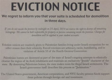 Low Income 1 Bedroom Apartments nyu mock eviction notices jewish students sjp