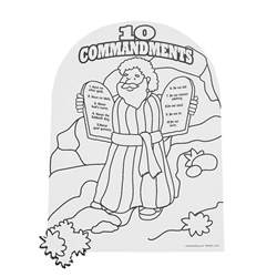 10 commandments coloring page color your own moses the ten commandments coloring