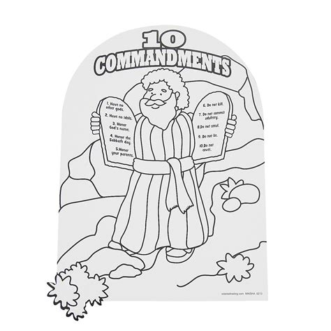 Moses Ten Commandments Coloring Page Search Results Coloring Pages 10 Commandments