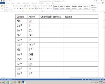 best 25 naming chemical compounds worksheet ideas on pinterest naming compounds worksheet