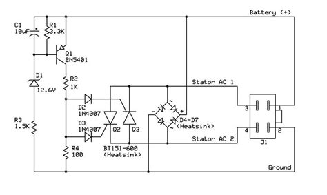 4 pin voltage regulator wiring diagram 4 pin voltage