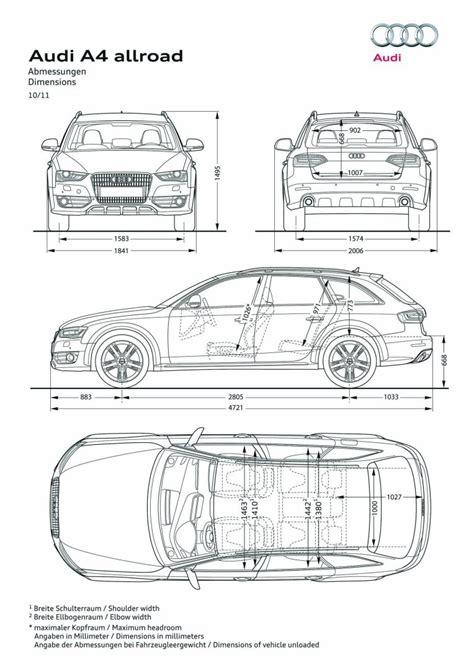 Audi A4 Avant Abmessungen by Audi A4 Allroad Abmessungen Facelift Audi A4 Mit