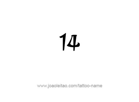 latin numbers tattoo designs fourteen 14 number designs tattoos with names