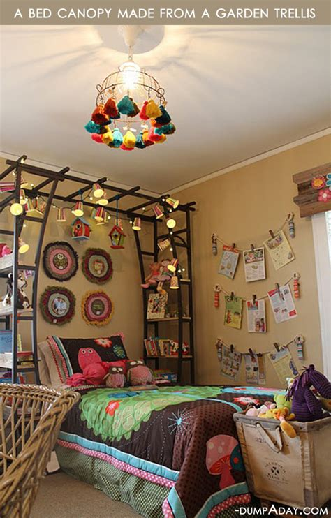 amazing easy diy home decor ideas bed canopy dump  day