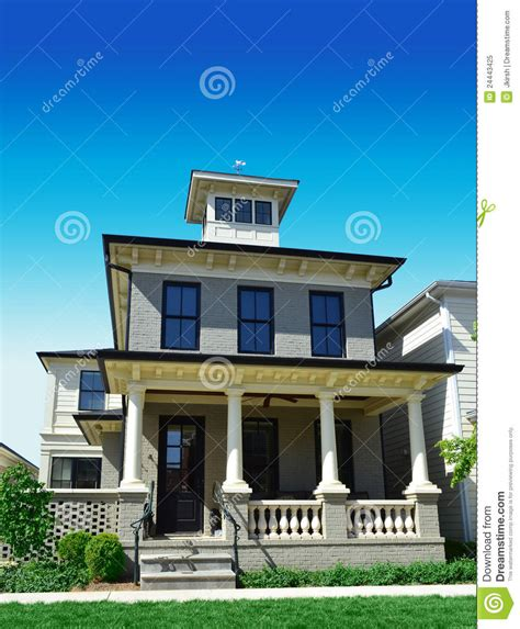 Beach House Plans Free brick house with widow s peak stock image image of