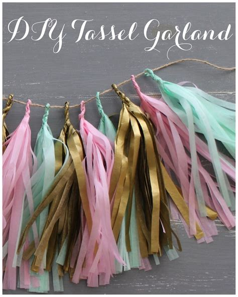 How To Make Tissue Paper Garland - diy confetti system inspired tissue paper tassel garland