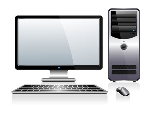 desk pc design desktop pc design vectors 04 vector other free