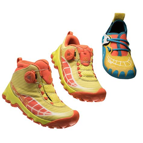 childrens climbing shoes la sportiva introduces laspokids trekking and climbing