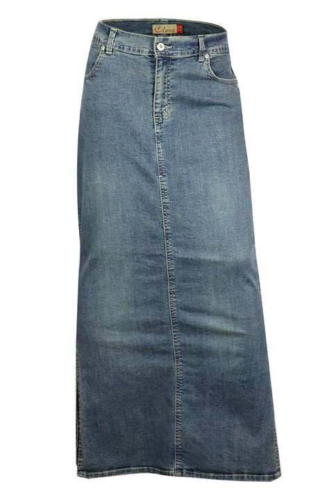 clove ankle length maxi stretch denim pencil