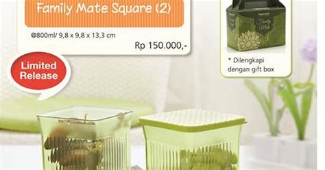 Family Mate 800ml 2 tupperware promo family mate square 2 agen tupperware