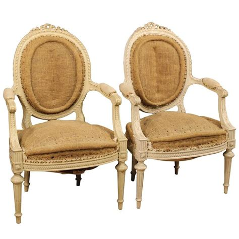 french armchair styles 20th century pair of french armchairs in louis xvi style for sale at 1stdibs