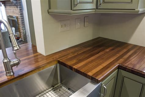Countertop Wrap walnut wrap around countertop maryland wood countertops
