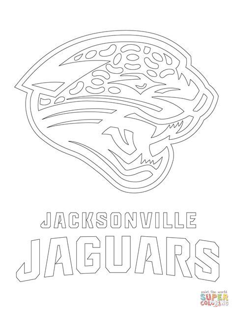 Nfl Jaguars Coloring Pages | jacksonville jaguars logo coloring page free printable