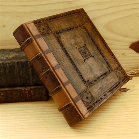 Handmade Leather Book - handmade leather journal large blank book embossed