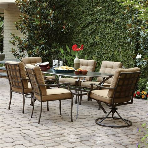 Outdoor Patio Furniture Canada Garden Treasures Eastmoreland Brown 7 Outdoor Dining Set Mw 3252 Dc Mw 3252 Sr Mw